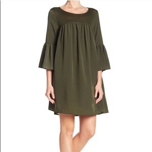 French Connection Bell Sleeve Back Cutout Dress